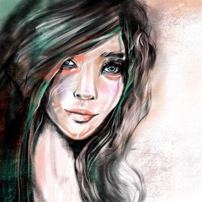 Фотообои Портретная иллюстрация