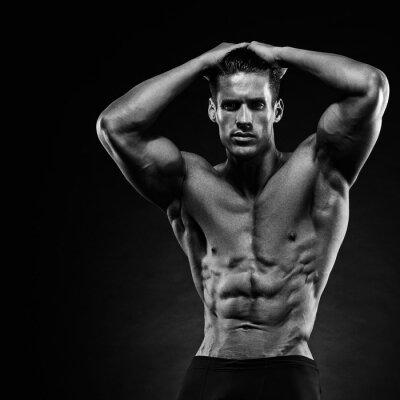 Фотообои Портрет красивый мышечной культурист позирует