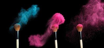 Фотообои powderbrush на черном фоне с синим всплеском порошка
