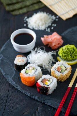 Фотообои приготовлению суши