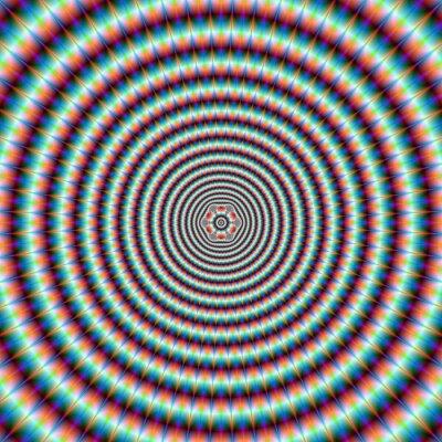 Фотообои Пульсирующий кольца