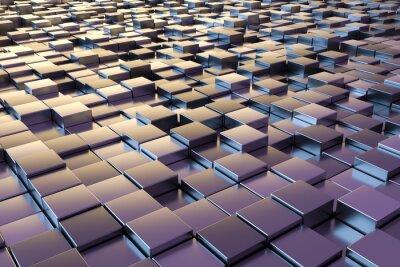 Фотообои фиолетовый металлик кубов
