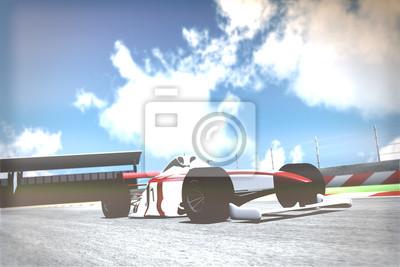 Фотообои Расы автомобиля на трек