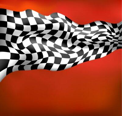 Фотообои Бегах клетчатый флаг wawing