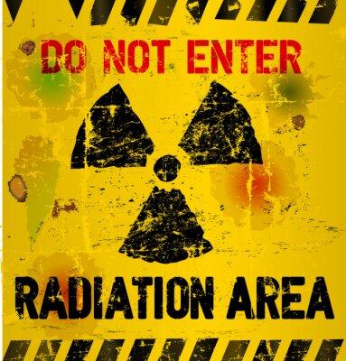 Фотообои Предупреждение радиационной область, векторные иллюстрации