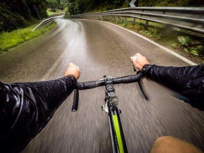 Фотообои Ragazzo в bicicletta кон ла Pioggia. POV оригинальную точку зрения