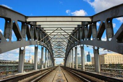 Фотообои Железнодорожный мост в Москве
