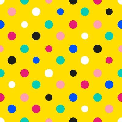 Фотообои Радуга Красочный горошек желтый фон векторной иллюстрации