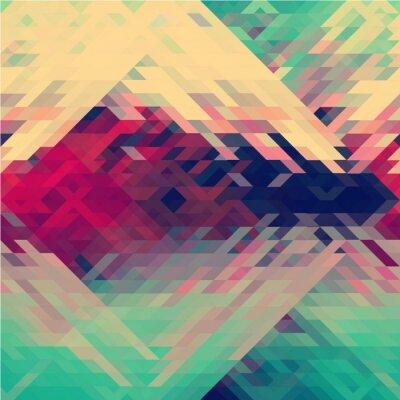 Фотообои Радуга цветов треугольные векторный рисунок