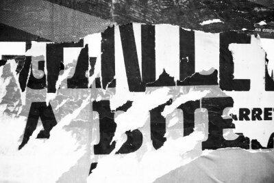 Фотообои Случайный коллаж фон бумаги текстуры типографика на стене