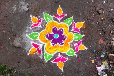 Фотообои Ранголи / Муннар (Керала / Inde