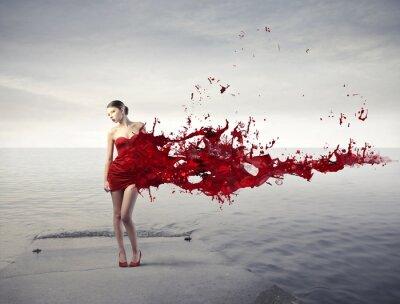 Фотообои Красный красоты