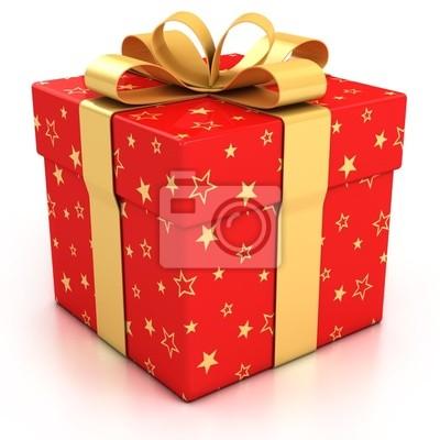 Красные коробки с подарками