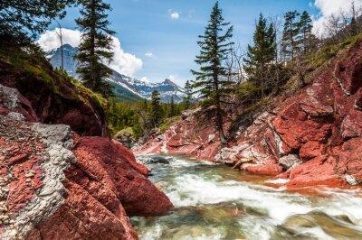 Фотообои Красный Рок-Крик в движении и каньон