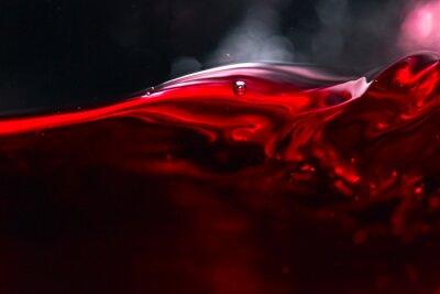 Фотообои Красное вино на черном фоне