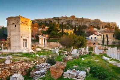 Фотообои Остатки римской Агоры и Акрополя в Афинах, Греция.