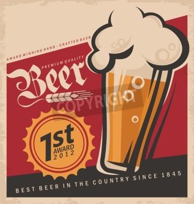 Фотообои Ретро пиво вектор плакат