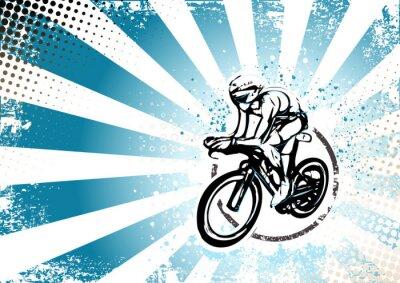 Фотообои Ретро Велоспорт плакат фон
