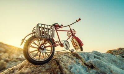 Фотообои ретро игрушка велосипед на берегу моря
