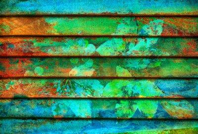 Фотообои ритмические серии деревянные цветные линии