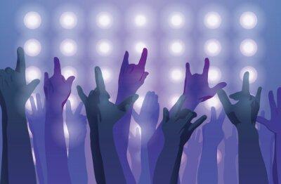 Фотообои Рок концерт. Руки вверх.