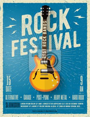 Фотообои Праздник рок-музыки. Векторные иллюстрации.
