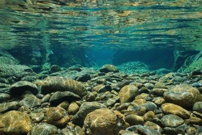 Фотообои Скалы на подводные русла реки с чистой пресной воды, реки Dumbéa, Гранд-Терре, Новая Каледония
