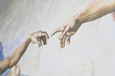 Фотообои Rome Italy March 08 creation of Adam by Michelangelo