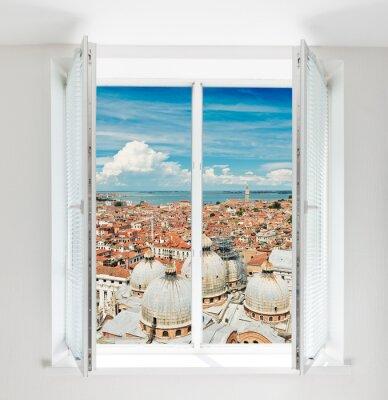 Фотообои крыши Флоренции видел через окно