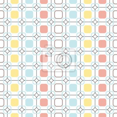 Фотообои Округлые квадраты повторяемые бесшовные вектор узор.