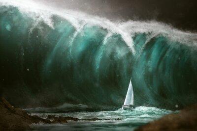 Фотообои Парусник перед цунами