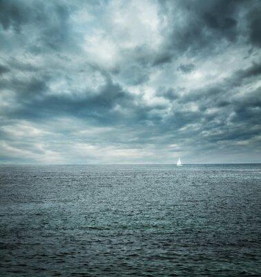 Фотообои Кораблевождение в бурном море. Темный фон.