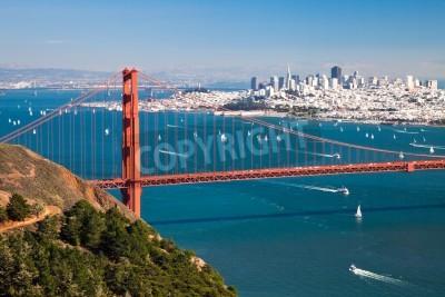 Фотообои Панорама Сан-Франциско из залива Сан-Франциско