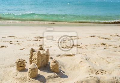 Фотообои Замок из песка на пляже