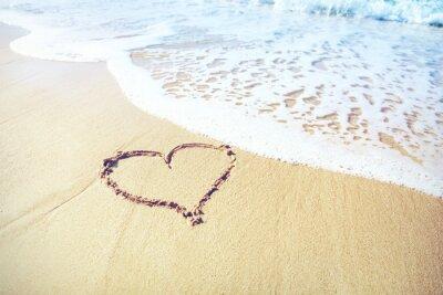 Фотообои Песок сердце