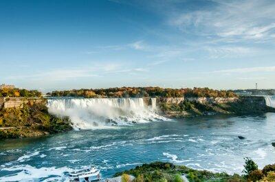 Фотообои живописный вид на Ниагарский водопад осенью