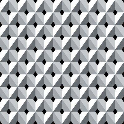 Фотообои Бесшовные 3d геометрические модели алмазов.