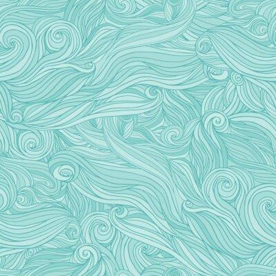 Фотообои Seamless abstract pattern, tangle wavy hair background