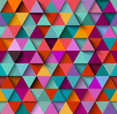 Фотообои Бесшовные фон с треугольниками и тенями, вектор EPS10