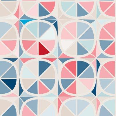 Фотообои бесшовный фон с абстрактными геометрическими формами
