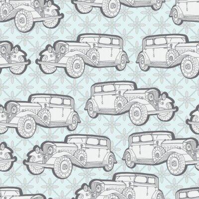 Фотообои Бесшовные фон с ретро-автомобилей