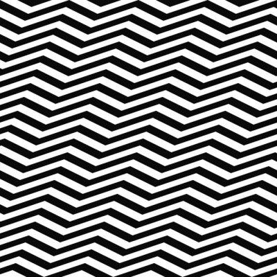 Фотообои Бесшовные черный белый узор шеврон