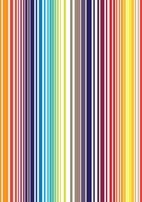 Фотообои Бесшовные яркий полный цвет полоса рисунок. Векторная иллюстрация F