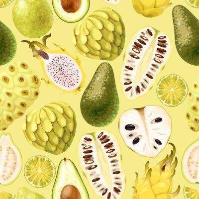Фотообои Бесшовный экзотический фрукт