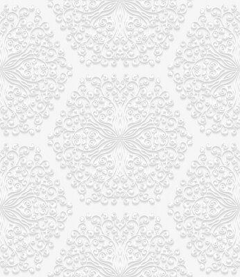 Фотообои Бесшовные цветочный узор в традиционном стиле