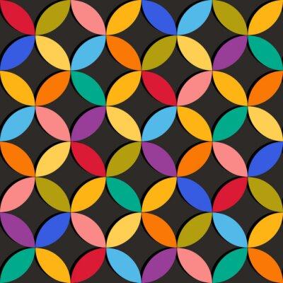 Фотообои Бесшовные геометрическим рисунком с красочными элементами