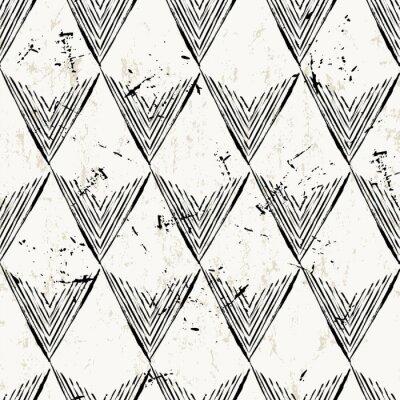 Фотообои бесшовный узор с треугольниками, инсультов и splashe