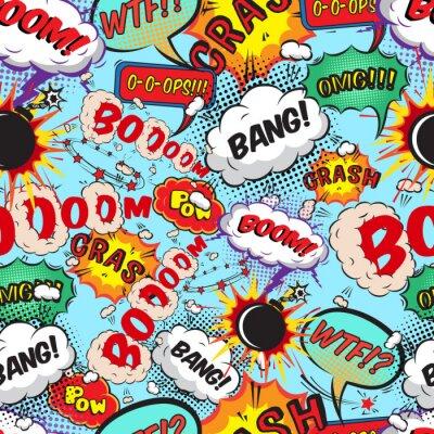 Фотообои Пузыри Бесшовные комиксов речи