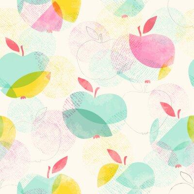 Фотообои Бесшовный фон с яблоками