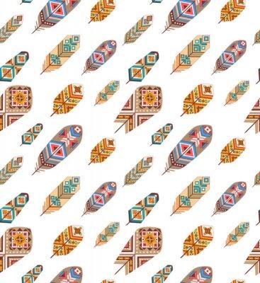 Фотообои Бесшовные с этническими перьями
